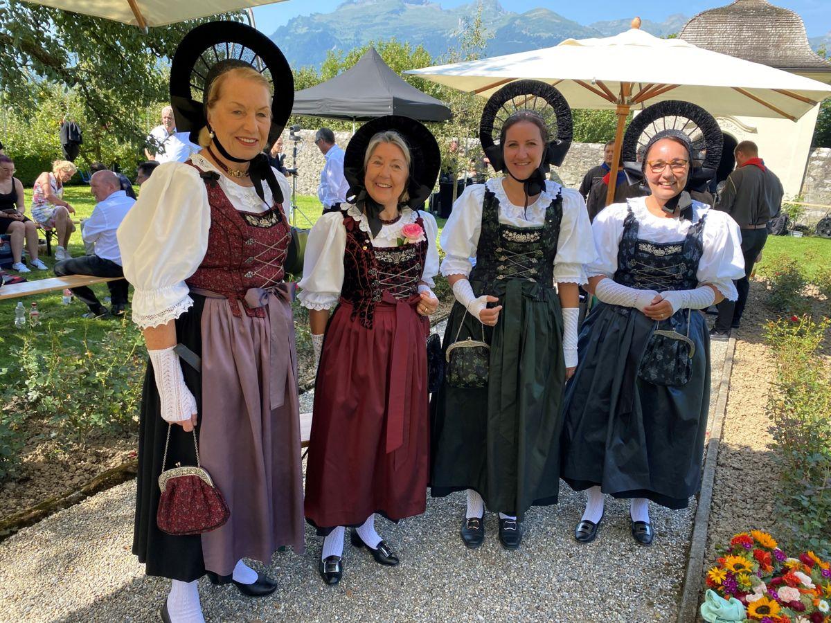 Die Liechtensteiner Tracht gehört  zum Staatsfeiertag