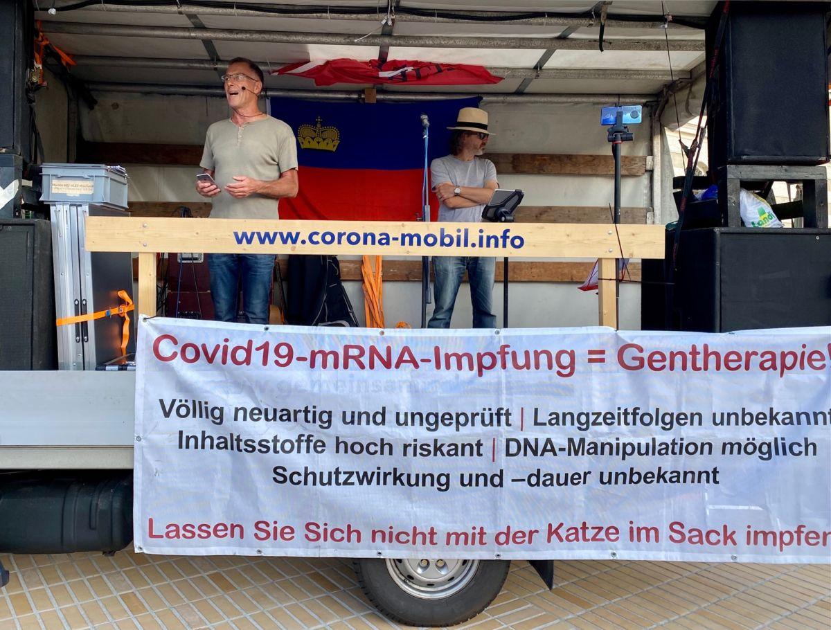 Über 600 Personen an der Corona Demonstration gestern in Vaduz