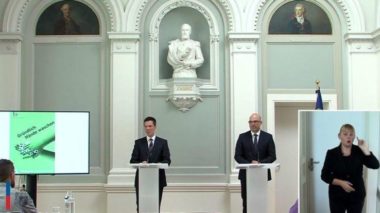 Medienkonferenz der Liechtensteiner Regierung vom 31.08.2021